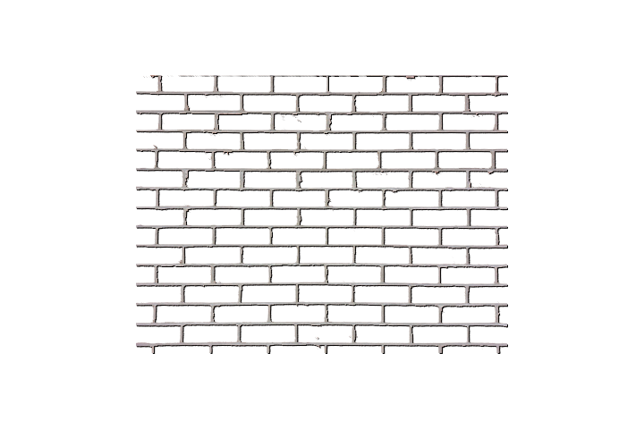 A lattice of mortar with no bricks
